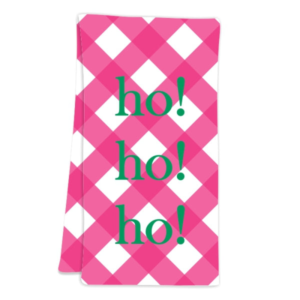 Gingham Pink Hostess Towel