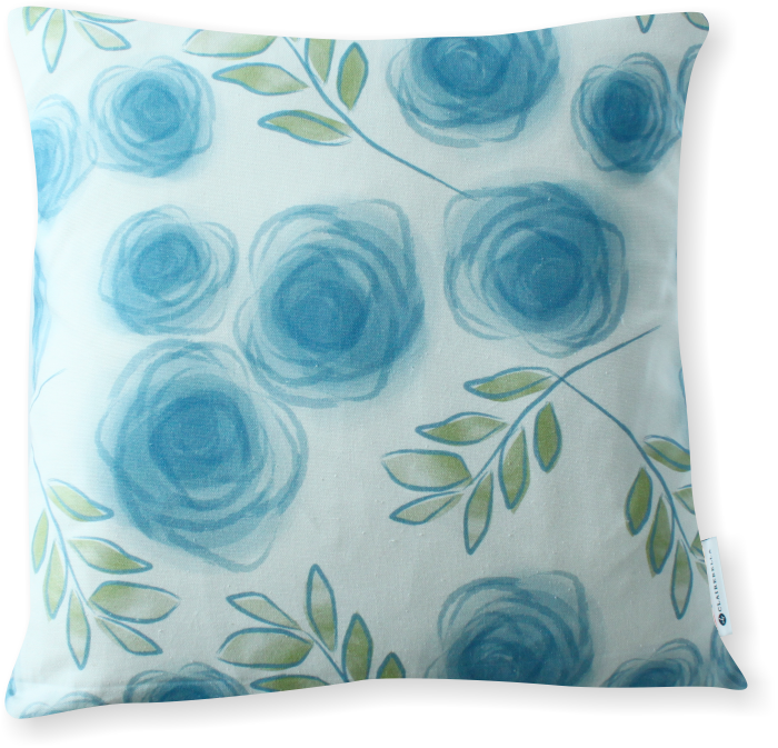 Luxe Le Jardin Blue Pillow Cover