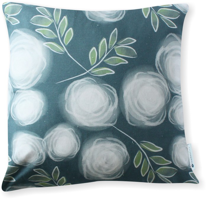 Luxe Le Jardin Ash Pillow Cover