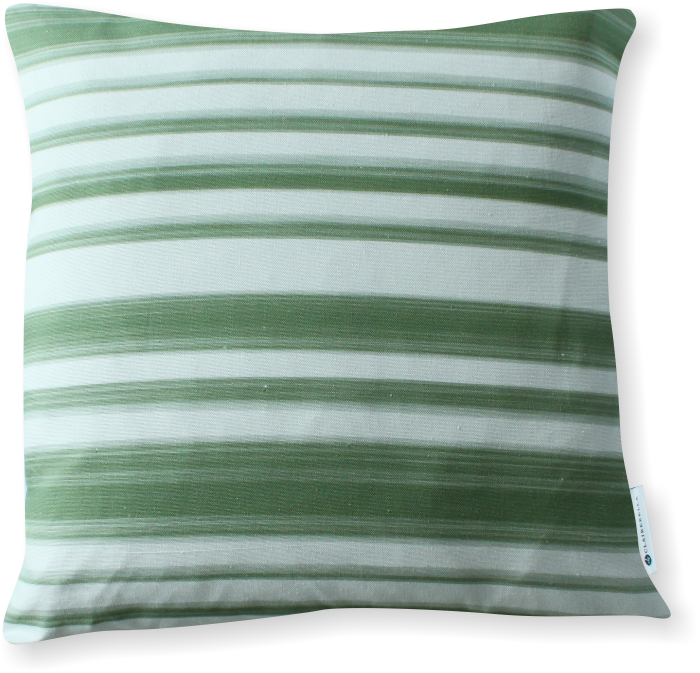 Luxe Le Jardin Stripe Green Pillow Cover