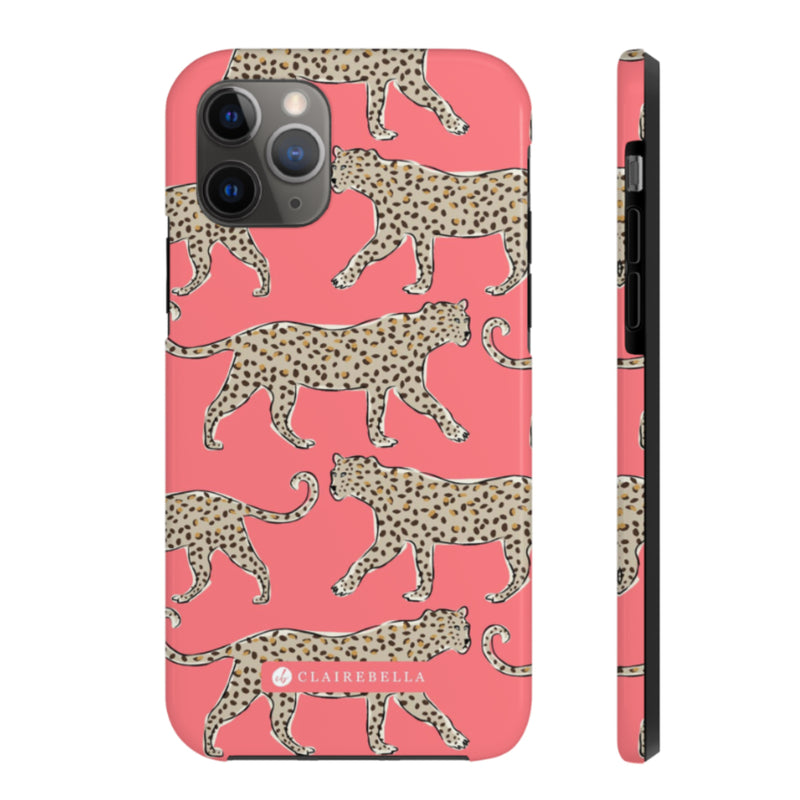 iPhone Tough Case 11 Leopard Coral