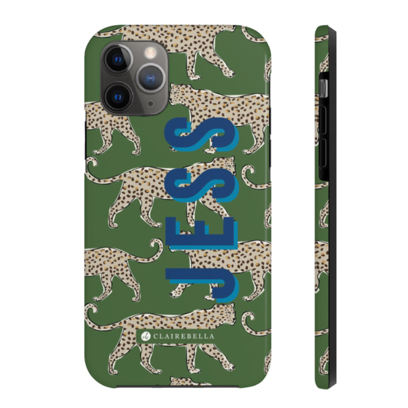 iPhone Tough Case 11 Pro Max Leopard Green
