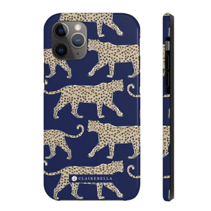 iPhone Tough Case 11 Leopard Navy