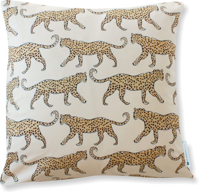 Luxe Leopard Blush Pillow