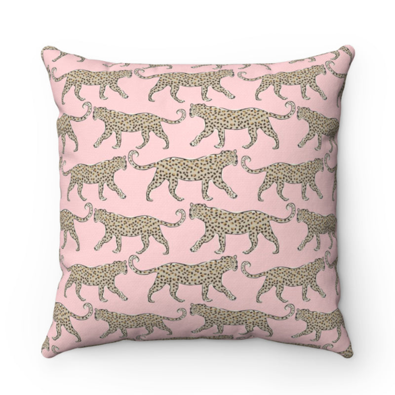 Leopard Blush Outdoor Pillow