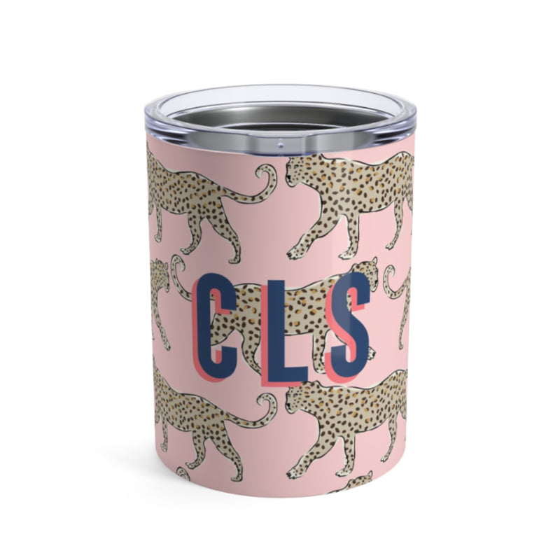 Small Leopard Blush Tumbler