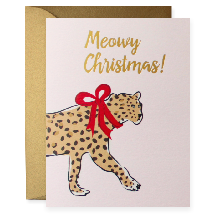 Meowy Christmas Greeting Card