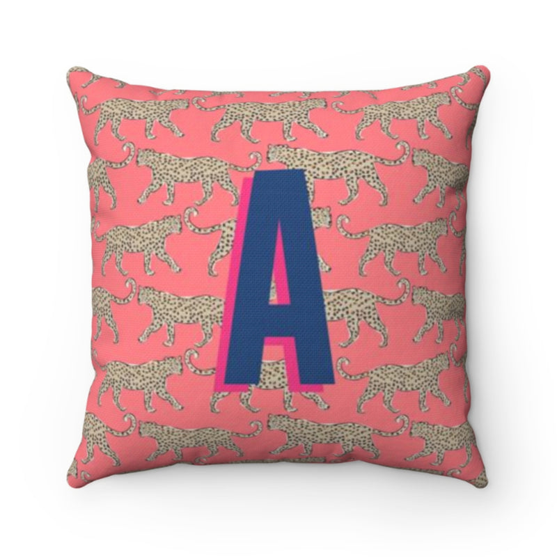 Leopard Coral Pillow Cover