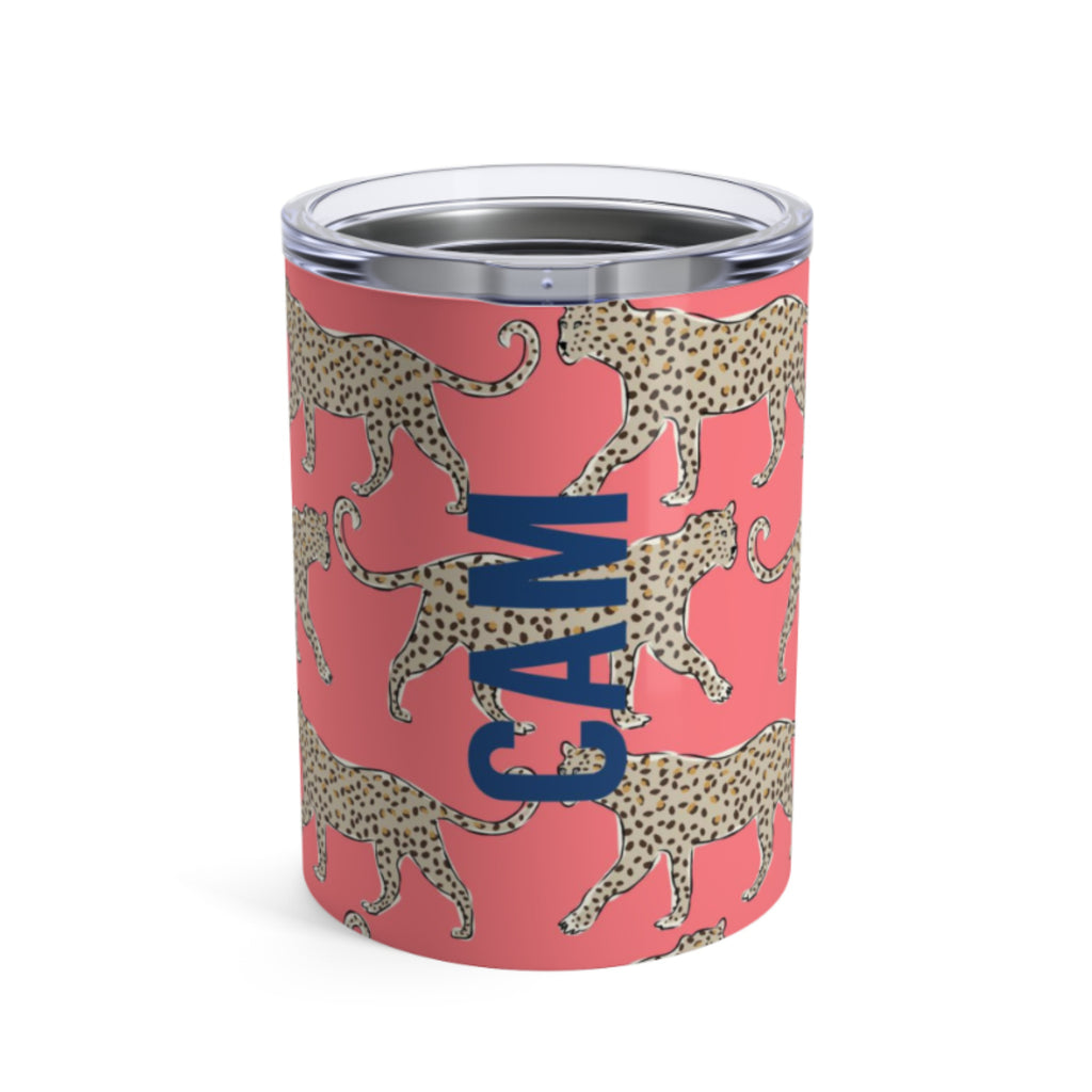 Small Leopard Coral Tumbler