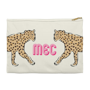 Leopard Duo Large Zippered Clutch