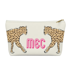 Leopard Duo Large Zippered Pouch