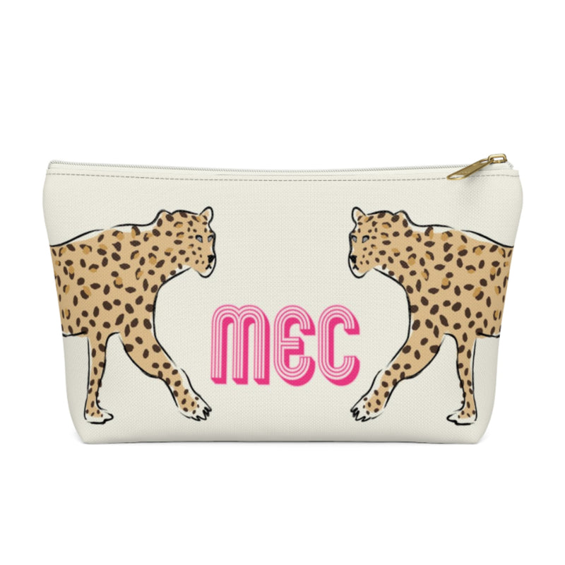 Leopard Duo Small Zippered Pouch