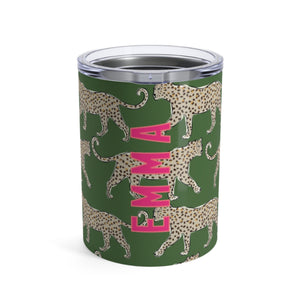 Small Leopard Green Tumbler