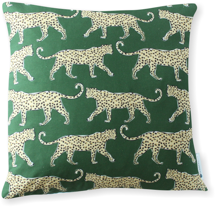Luxe Leopard Green Pillow