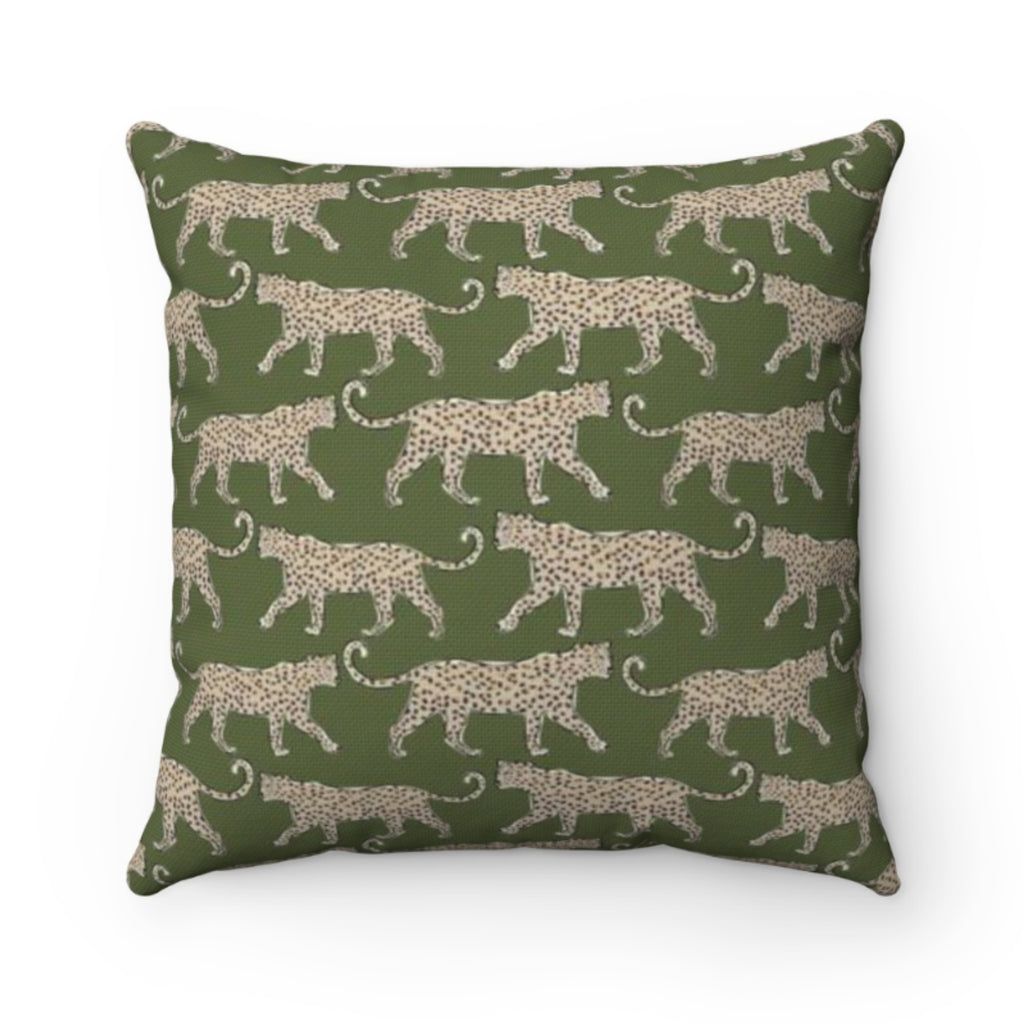 Leopard Green Outdoor Pillow
