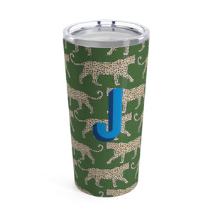 Large Leopard Green Tumbler