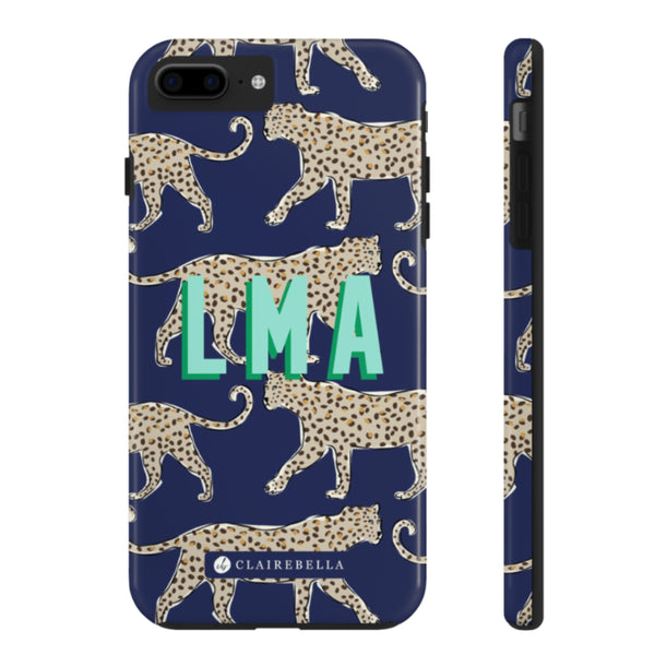 Leopard Navy Square Note Pad