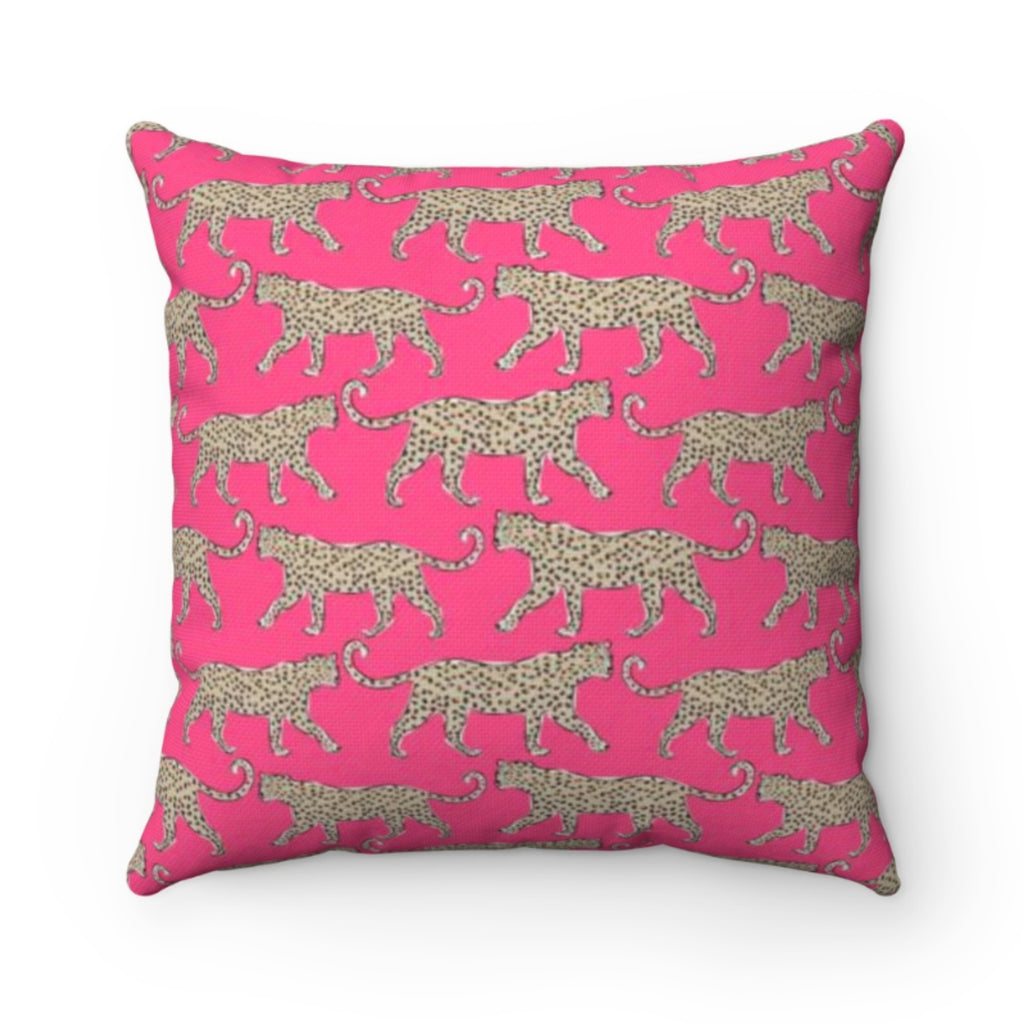 Leopard Pink Pillow Cover
