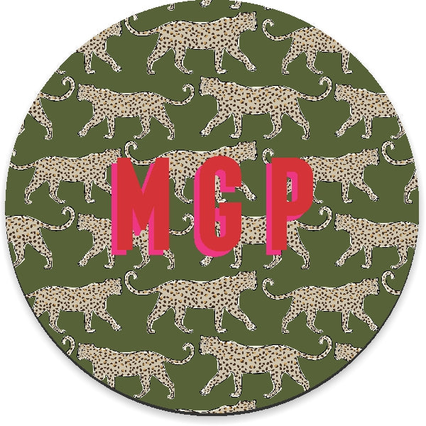 Leopard Green Mousepad