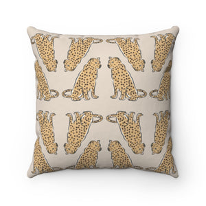 Leopards At Rest Sand Pillow Cover