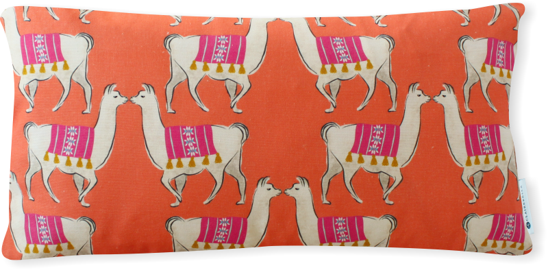 Luxe Llama Coral Pillow