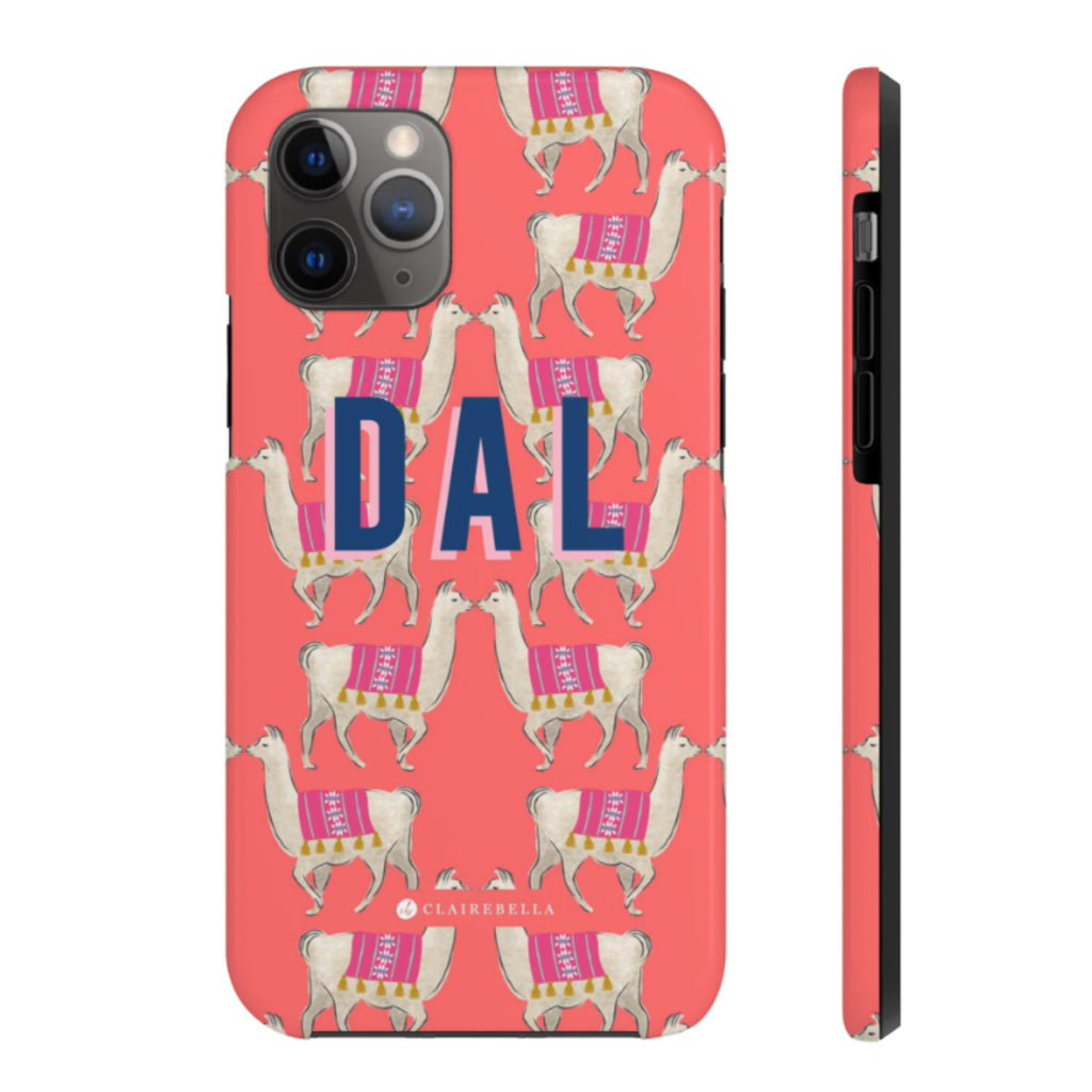 iPhone Tough Case 11 Pro Llama Coral