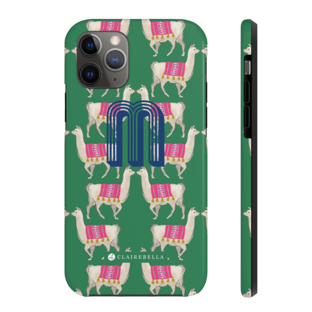 iPhone Tough Case 11 Pro Llama Green