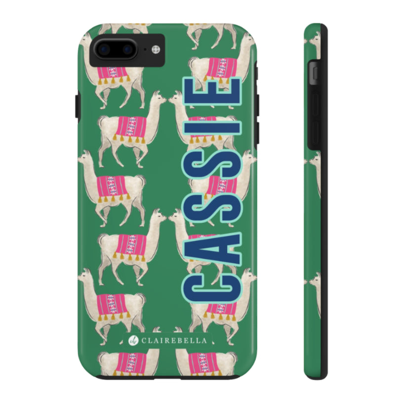 iPhone Tough Case 7/8 Plus Llama Green