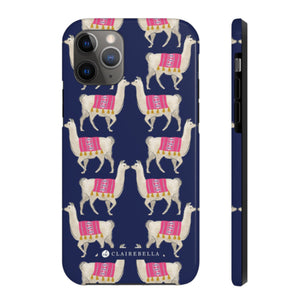 iPhone Tough Case 11 Pro Llama Navy