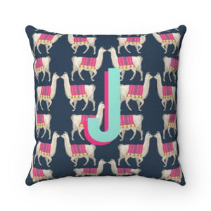 Llama Navy Pillow Cover