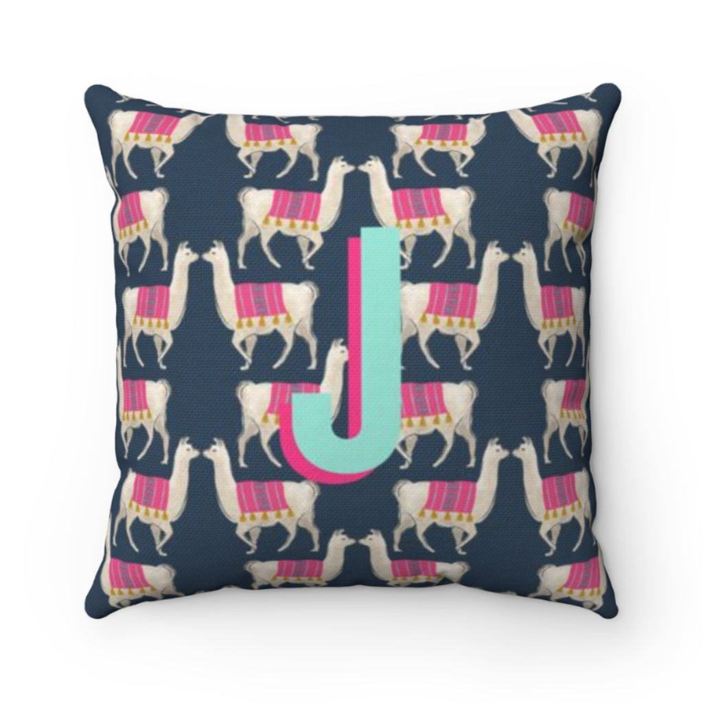 Llama Navy Outdoor Pillow