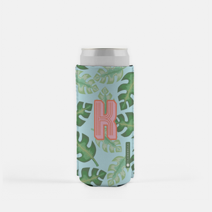 Tropical Blue Slim Can Cooler