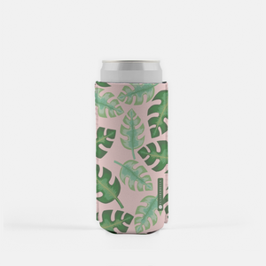 Tropical Pink Slim Can Cooler