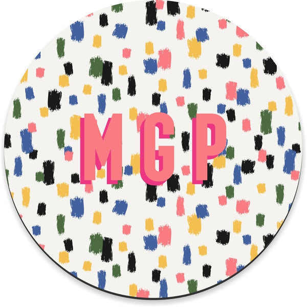 Come On Get Happy! Confetti Ivory Mousepad