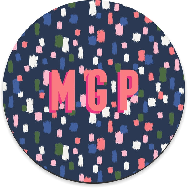 Come On Get Happy! Confetti Navy Mousepad