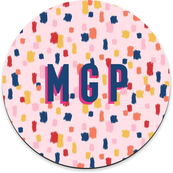 Come On Get Happy! Confetti Pink Mousepad