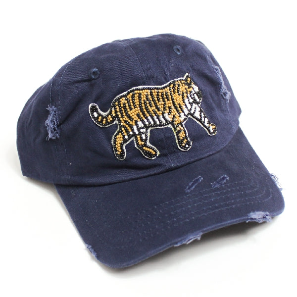 Tiger Beaded Ball Cap