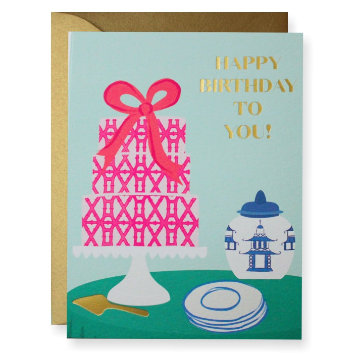Pagoda Birthday Greeting Card