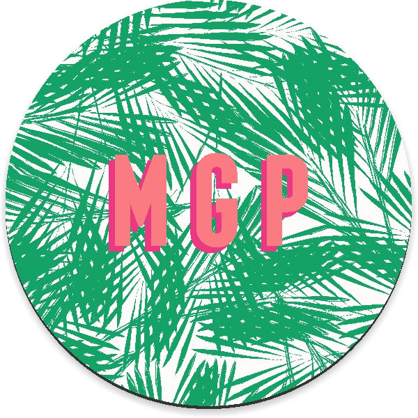 Palm Leaves Green Mousepad