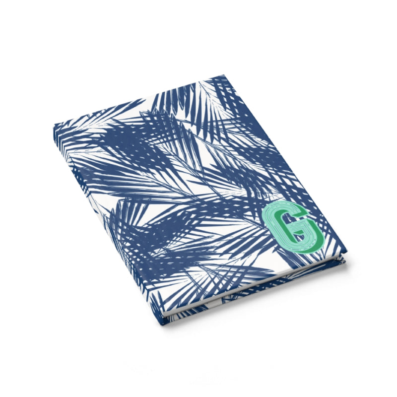 Palm Leaves Navy Journal