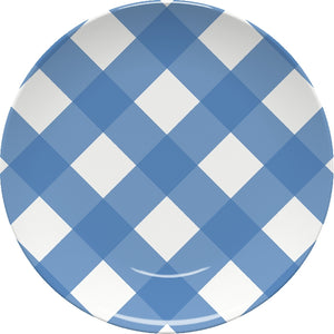 Gingham Blue Plate