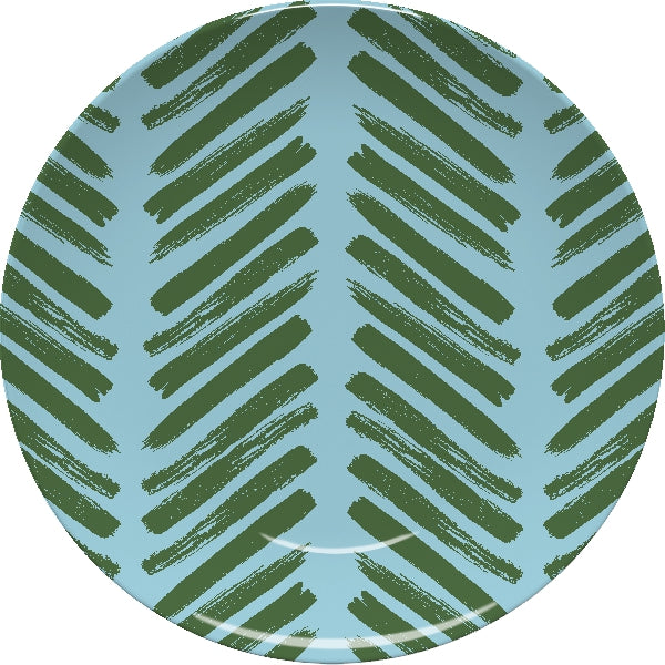 Herringbone Blue Plate