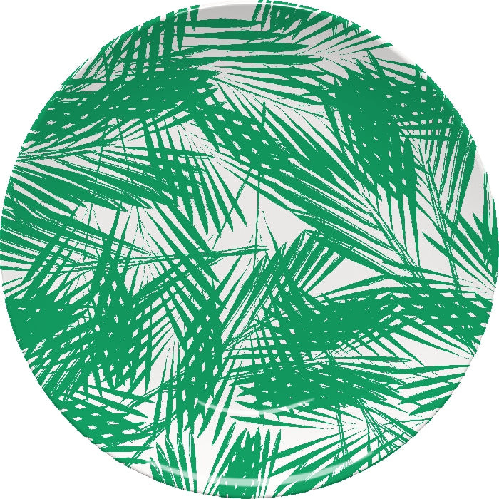 Palm Leaves Green Plate