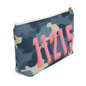 Camo Blue Small Zippered Pouch