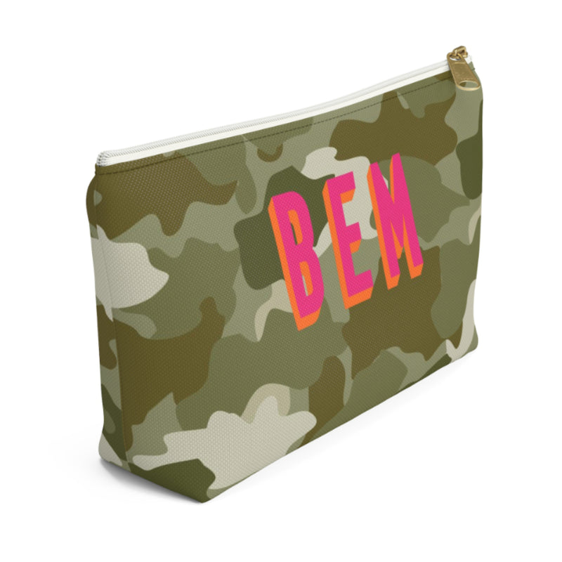 Camo Green Small Zippered Pouch