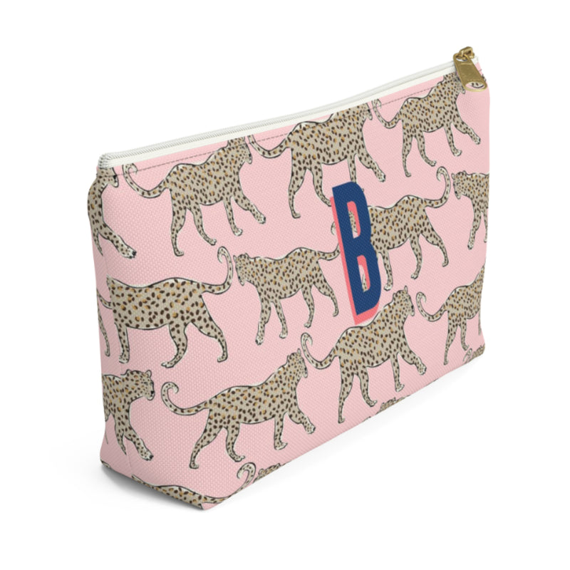 Leopard Blush Large Zippered Pouch