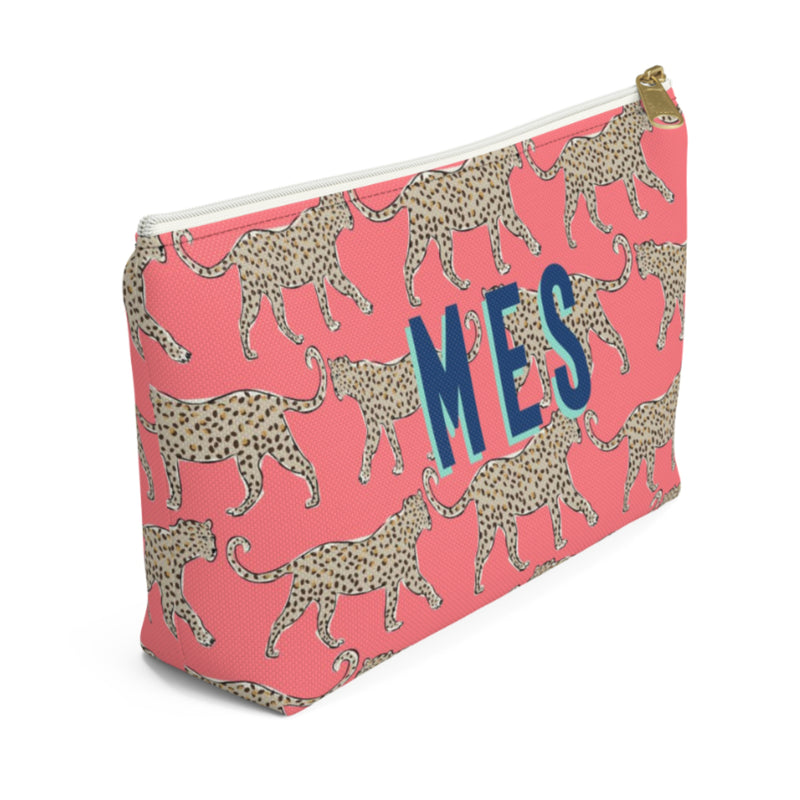 Leopard Coral Small Zippered Pouch