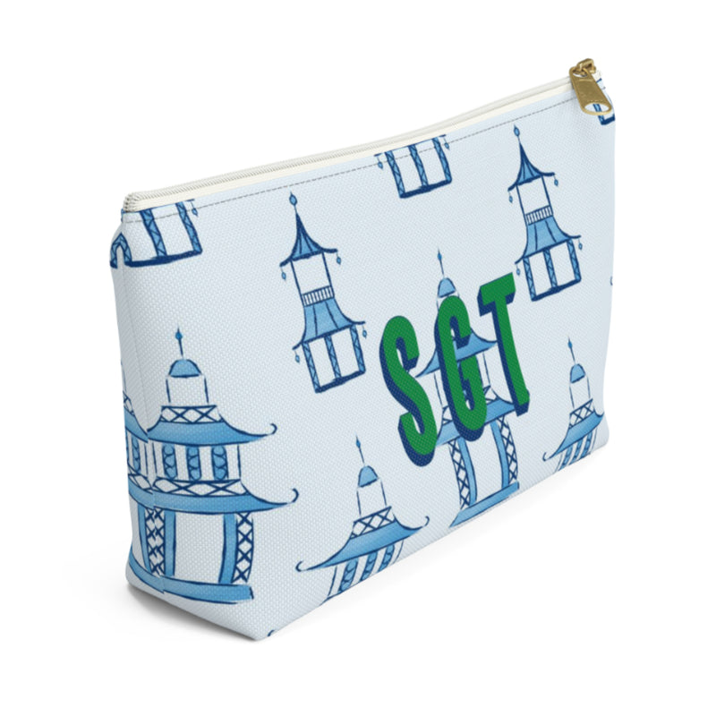 Pagoda Large Zippered Pouch