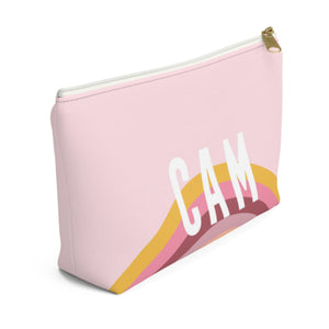 Rainbow Pink Small Zippered Pouch