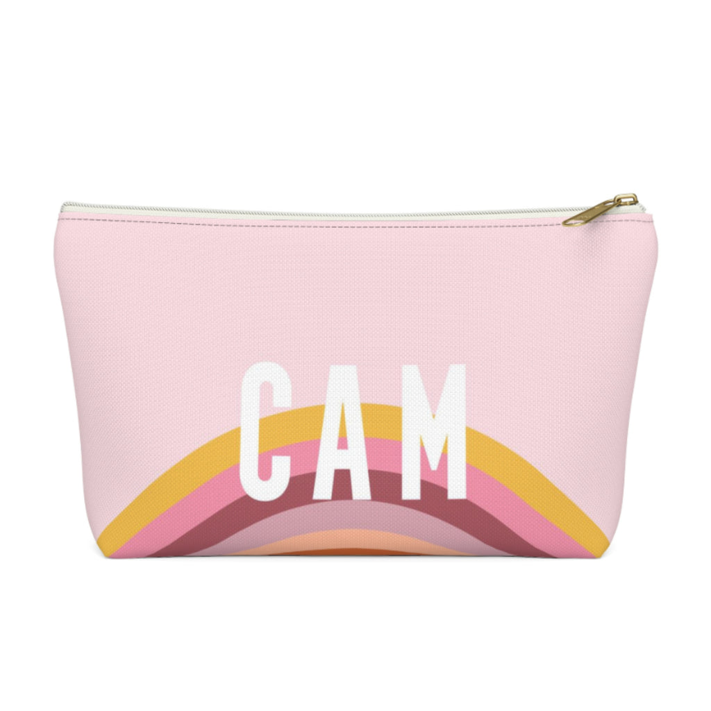 Rainbow Pink Large Zippered Pouch